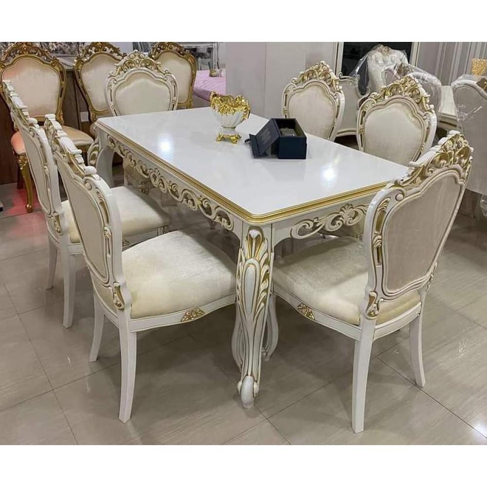 Трапезен комплект Маса + 6 стола Принц