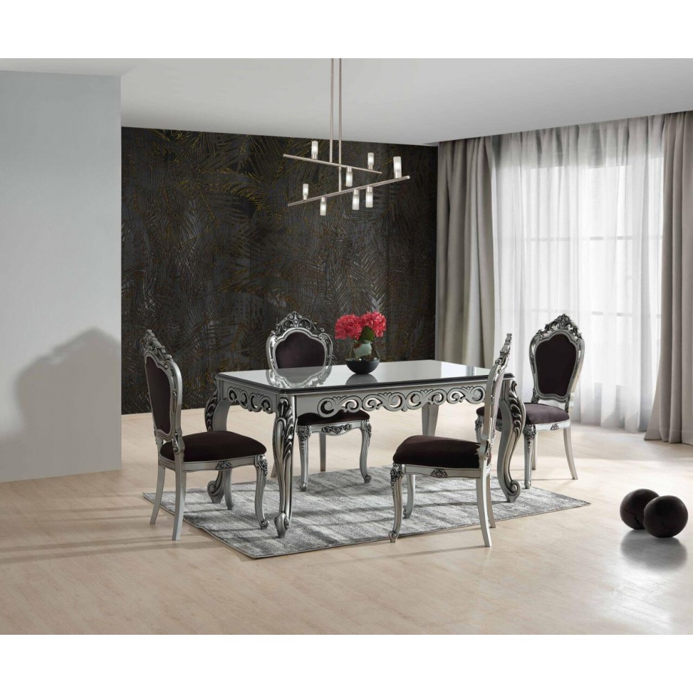 Трапезен комплект Маса + 6 стола Елегант