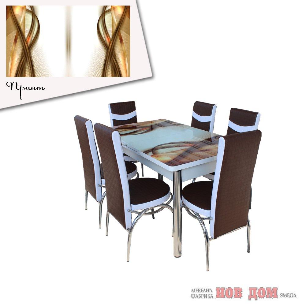 Комплект маса + 6 стола Голди