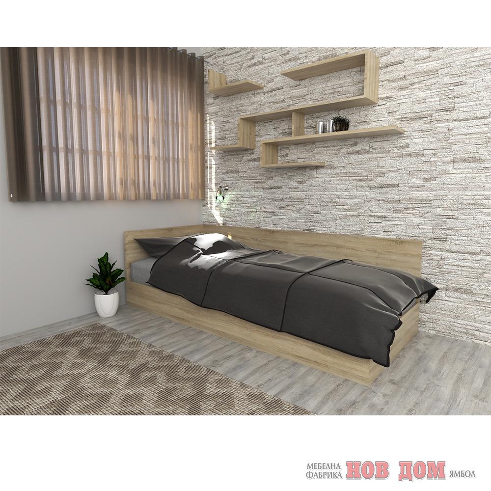 Легло с гръб и табла 120/190  + МАТРАК ПРОМО - Дъб Сонома