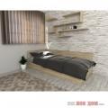 Легло с гръб и табла - Дъб Сонома