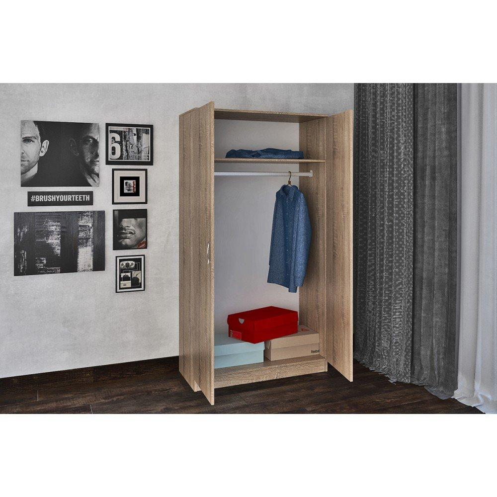 Двукрилен гардероб ПРОМО - Дъб Сонома