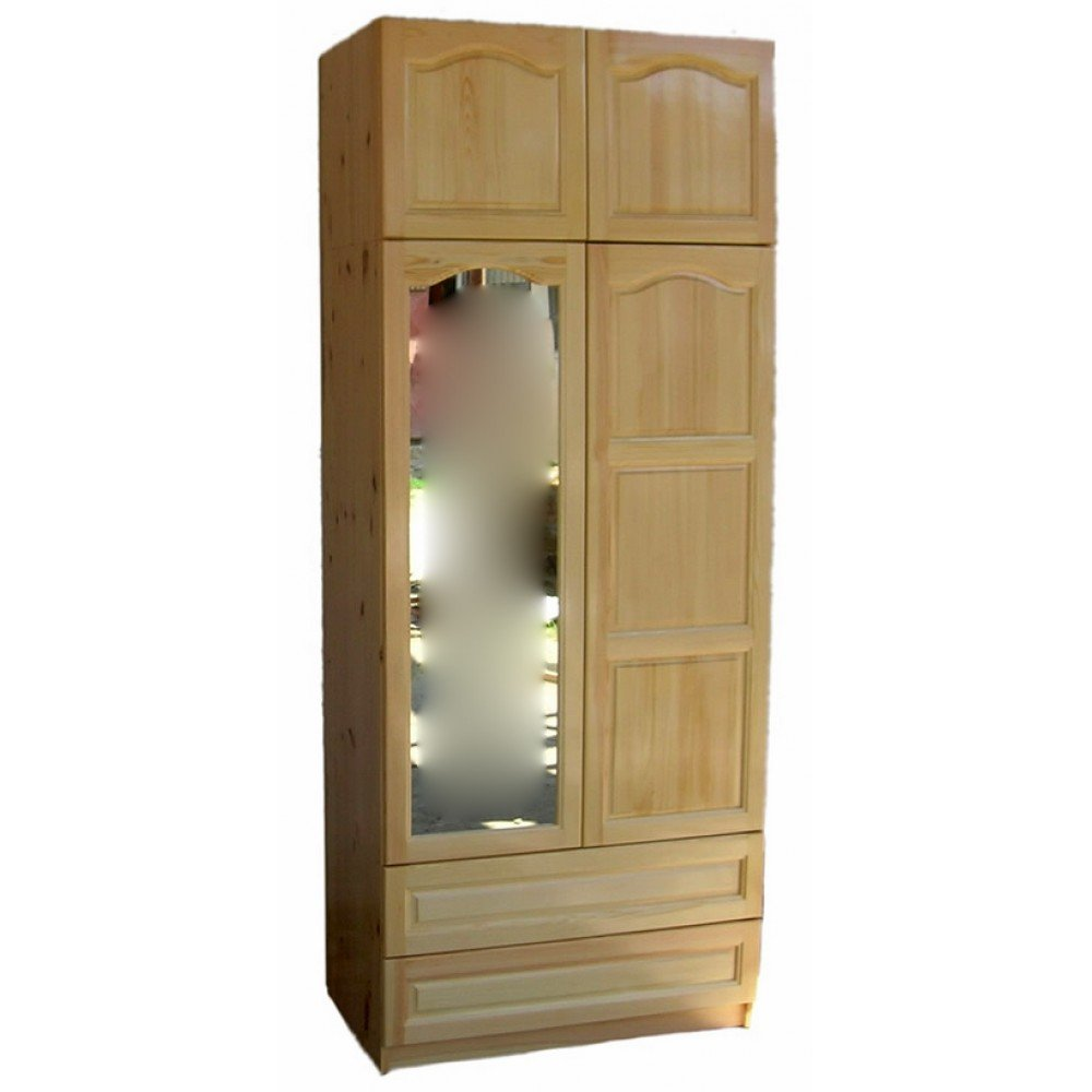 Двукрилен гардероб с огледало